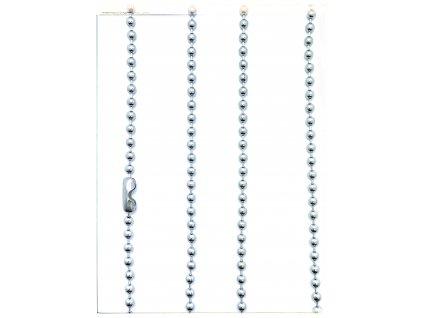 (S450) Ocelový řetízek na PSÍ ZNÁMKU - KULIČKY 36 - 70 cm/0,2 cm