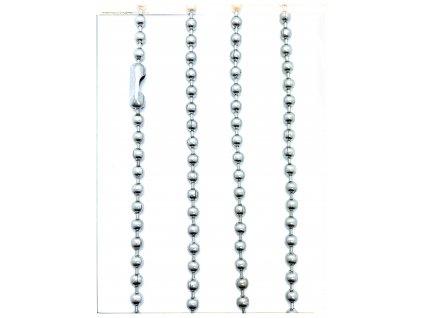 (S451) Ocelový řetízek na PSÍ ZNÁMKU - KULIČKY 36 - 70 cm/0,3 cm