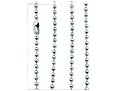 (S452) Ocelový řetízek na PSÍ ZNÁMKU - KULIČKY 36 - 70 cm/0,4 cm