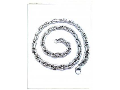 (S460) Ocelový řetízek KROUCENÝ, 42 - 55 cm/0,9 cm