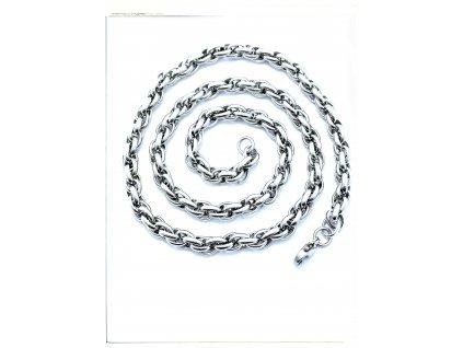 (S461) Ocelový řetízek KROUCENÝ, 42 - 55 cm/0,6 cm