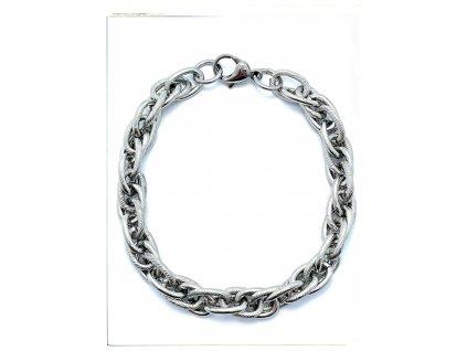 (O881) Ocelový pánský/dámský náramek, KROUCENÝ 9 mm
