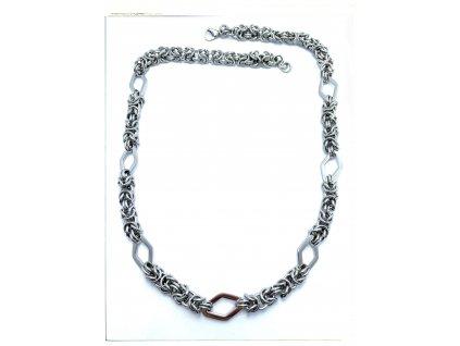 (S467) Ocelový dámský řetízek KRÁLOVSKÝ VZOR KOSOČTVEREC 54 cm