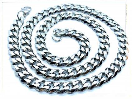 (O333) Ocelový pánský řetízek, PANCER 9 mm