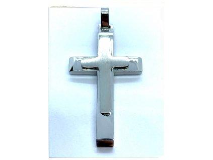 (O413) Ocelový kříž, LESK/MAT