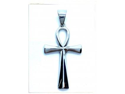 (O418) Ocelový kříž 4 cm, Nilský kříž, ANCH