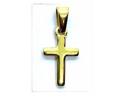 (O433) Ocelový křížek MINI 1,5 cm, GOLD/zlatá barva
