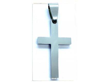 (O435) Ocelový kříž, lesklý 2,8 cm