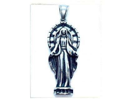 (O483) Ocelová MADONKA, silueta 4,3 cm