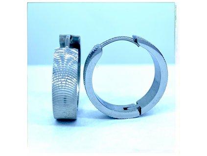 (O5237) Ocelové náušnice KRUHY s gravírováním