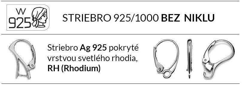 Striebro 925 rhodiované - Swarovski šperky Naneth