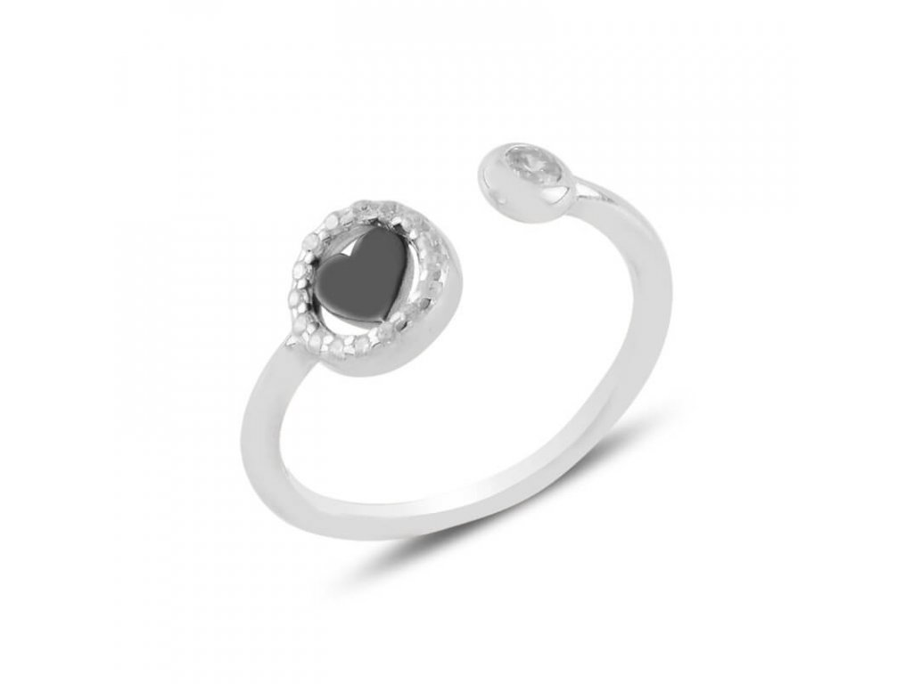 strieborny prsten damsky so srdieckom nastavitelna velkosť PR45299RH
