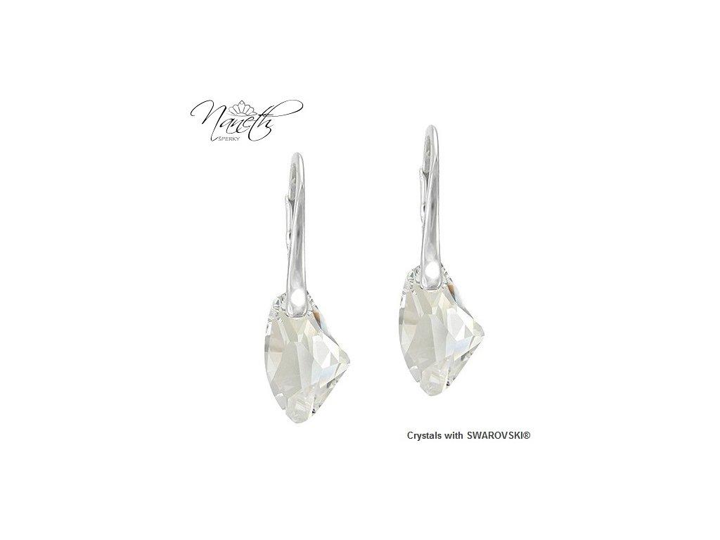 Strieborné náušnice Naneth s kryštálmi Swarovski GALACTIC Crystal 19 mm