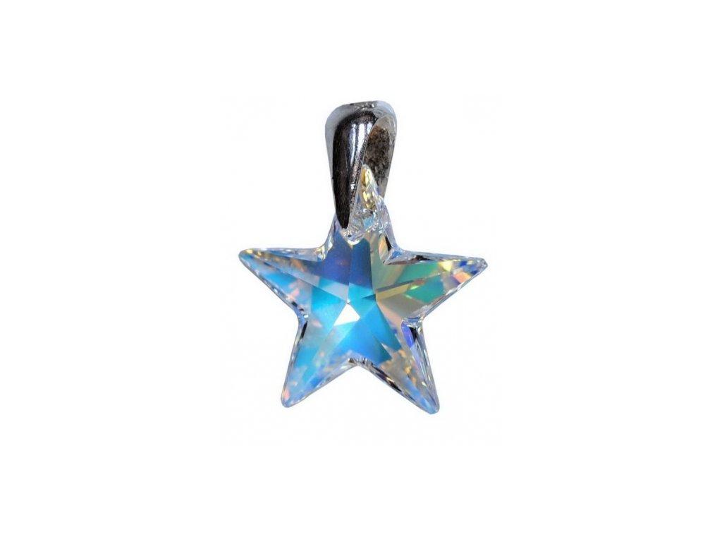 Prívesok dúhová hviezda Swarovski® AB 28 mm