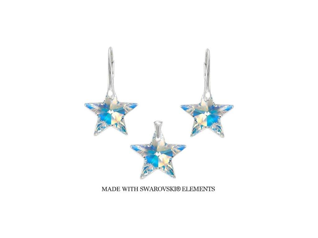Swarovski Elements set hviezdy AB 20 mm