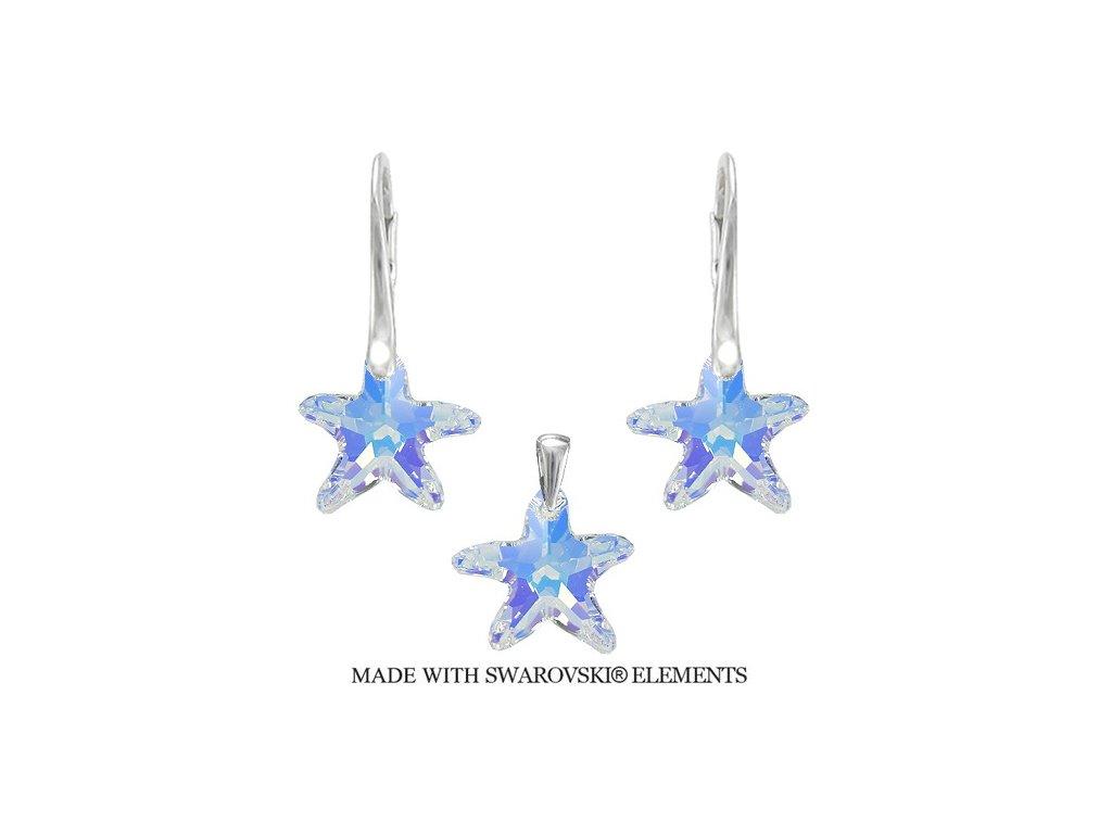 set morske hviezdy swarovski duhove