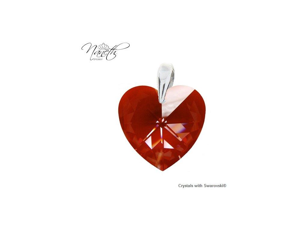 Prívesok Naneth Heart s kryštálom Swarovski Red Magma 40 mm