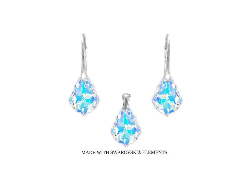 Set s kryštálmi Swarovski Crystals Baroque AB 22 mm