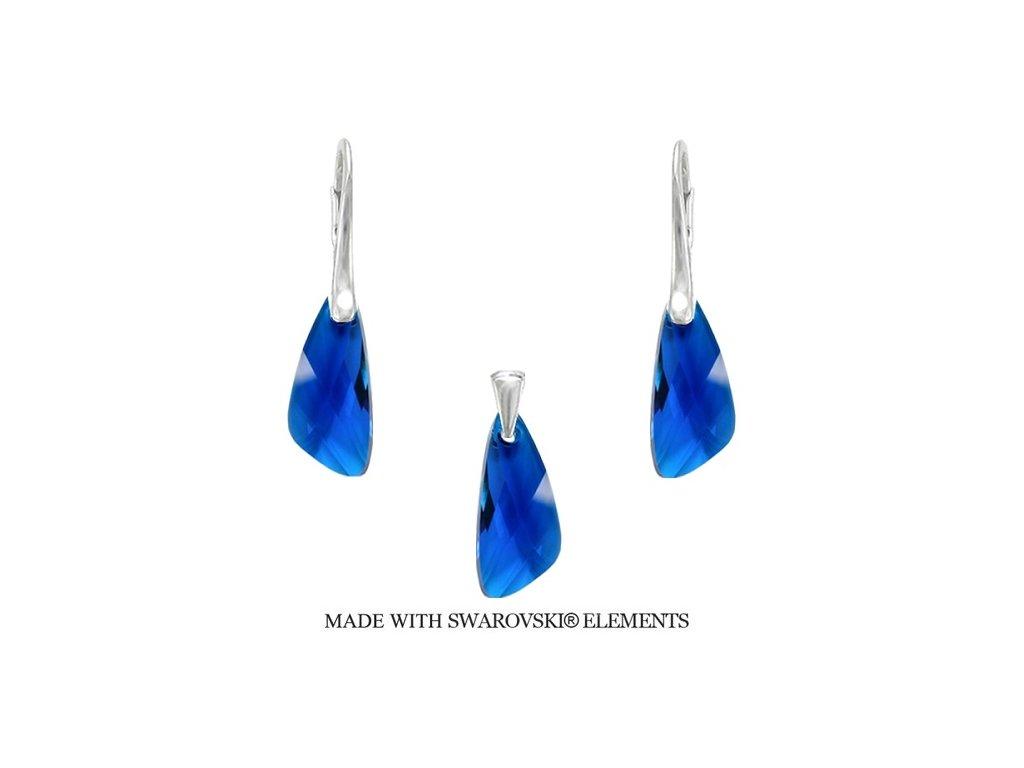 Set Naneth s kryštálmi Swarovski®Crystals Wing Capri Blue