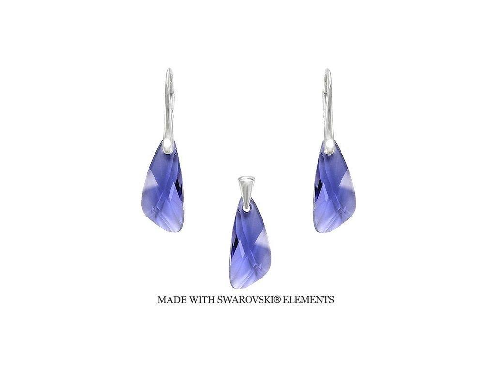 Set Naneth s kryštálmi Swarovski®Crystals Wing Violet fialový
