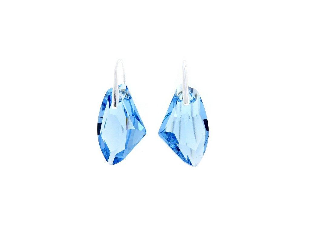 Náušnice s kryštálom Swarovski® GALACTIC Aquamarine 27 mm