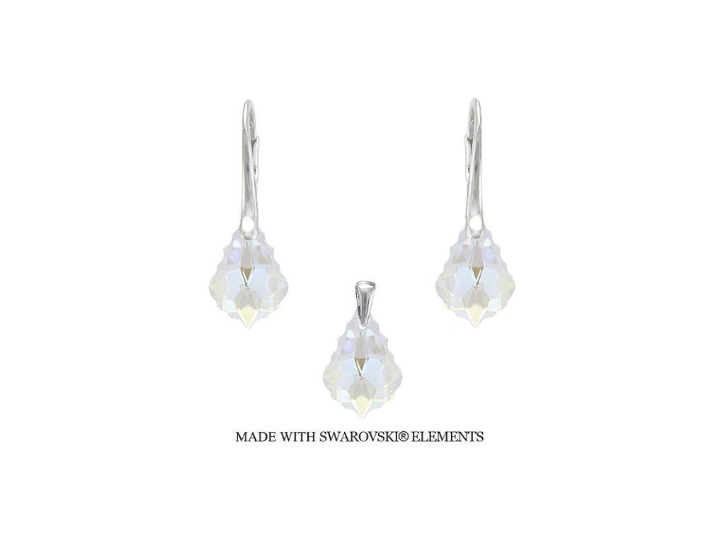 Set s kryštálmi Swarovski Elements Baroque Crystal 16 mm