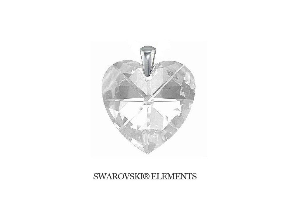 Prívesok Naneth Heart s kryštálom Swarovski Crystal 40 mm