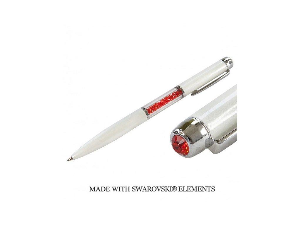 Pero Swarovski Elements biele + Hyacint