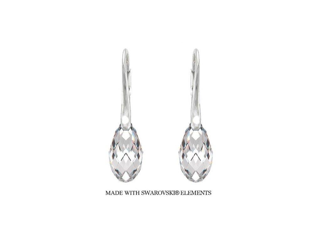 Náušnice BRIOLETTE s kryštálmi Swarovski Elements Crystal 17 mm