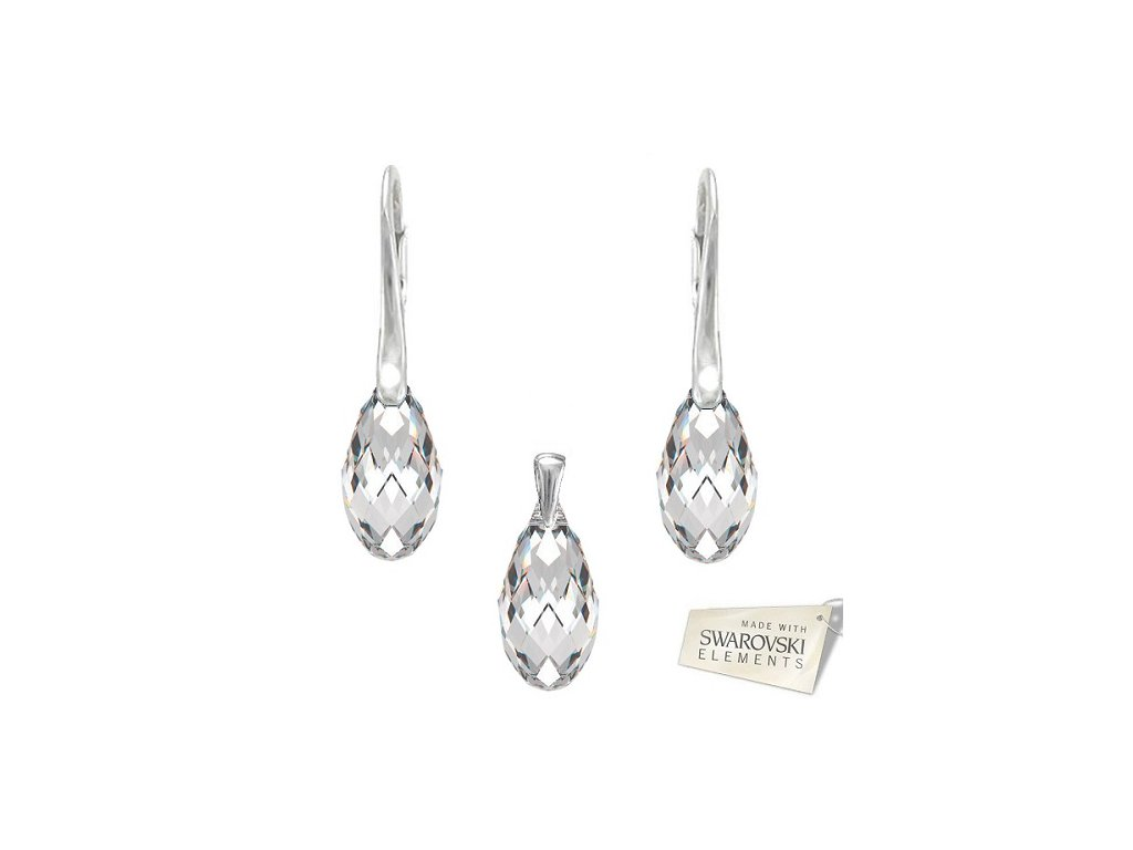 Set BRIOLETTE s kryštálmi Swarovski Elements Crystal 17 mm