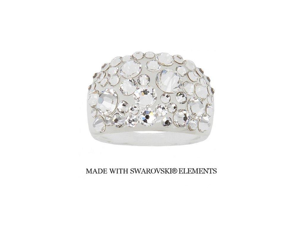 Prsteň Bubble s kryštálmi Swarovski Elements Crystal