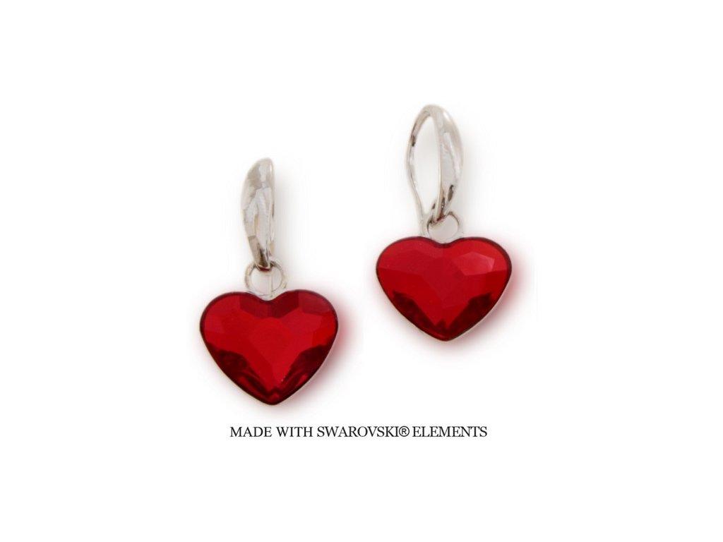 Náušnice s kryštálmi Swarovski Elements Heart KW2808SI
