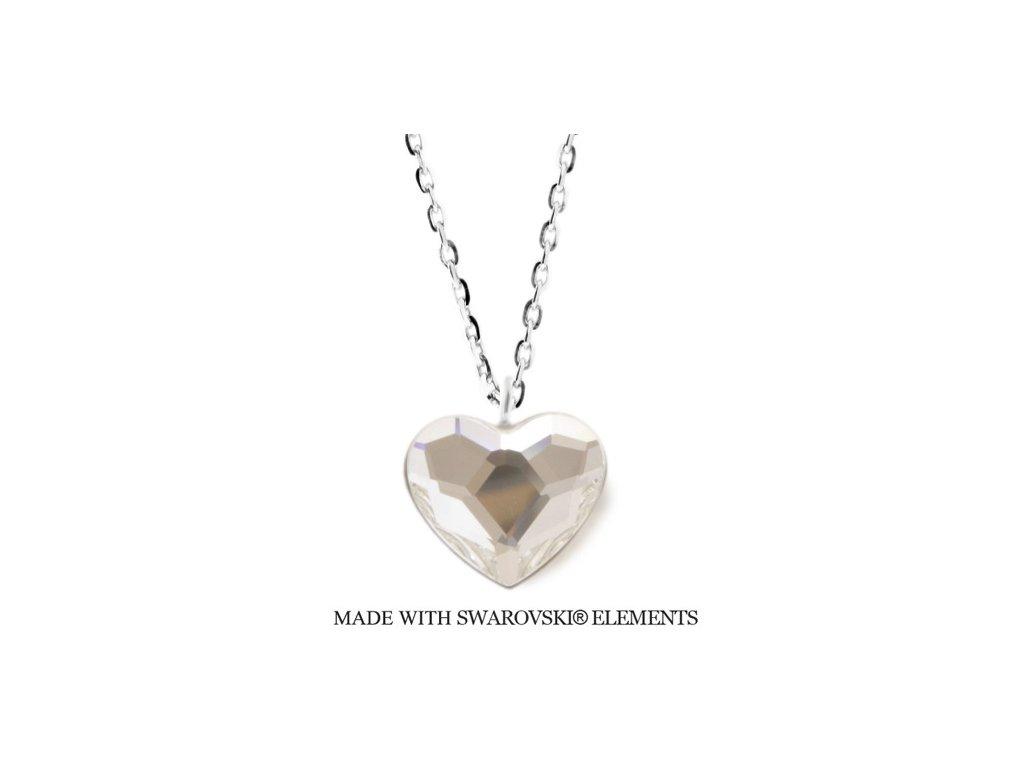 Náhrdelník s kryštálom Swarovski Elements Heart Crystal N2808C
