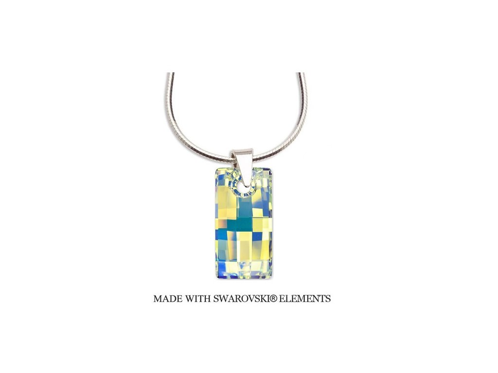 Náhrdelník Swarovski Elements obdĺžnik URBAN AB 20 mm