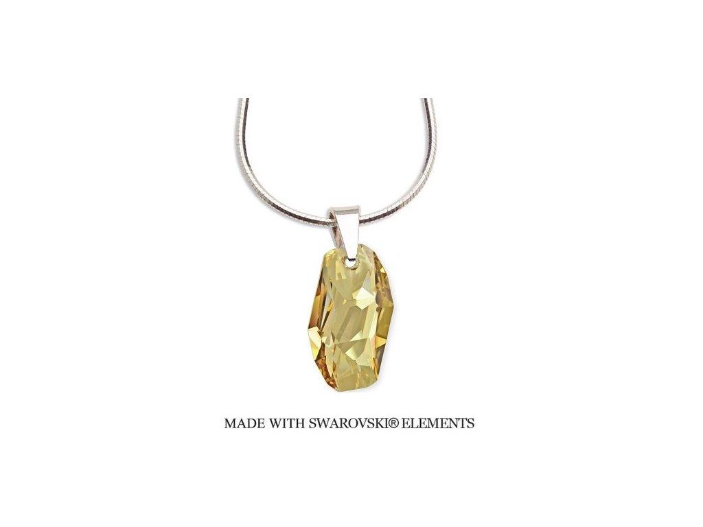 Náhrdelník Swarovski Elements Meteor zlatistý
