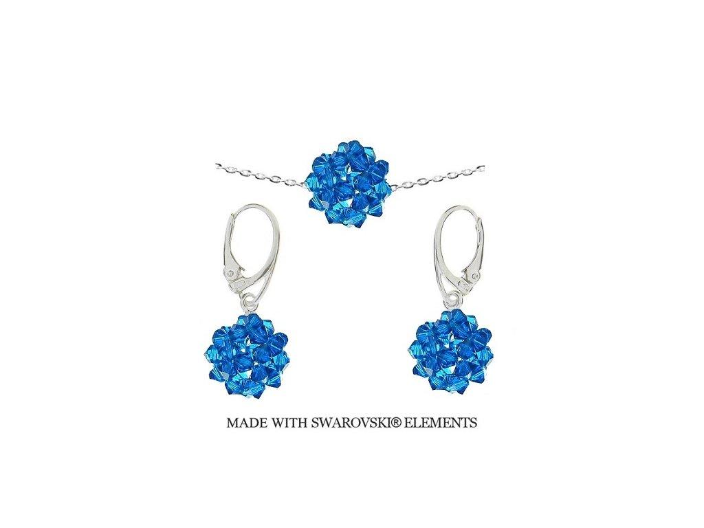 Set Naneth z korálkových Swarovski® modrých guličiek HandMade