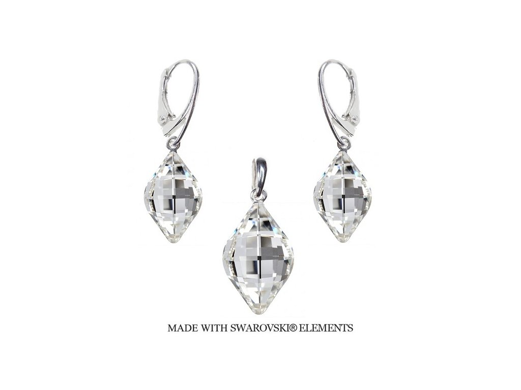 Set Swarovski Elements LEMON Crystal