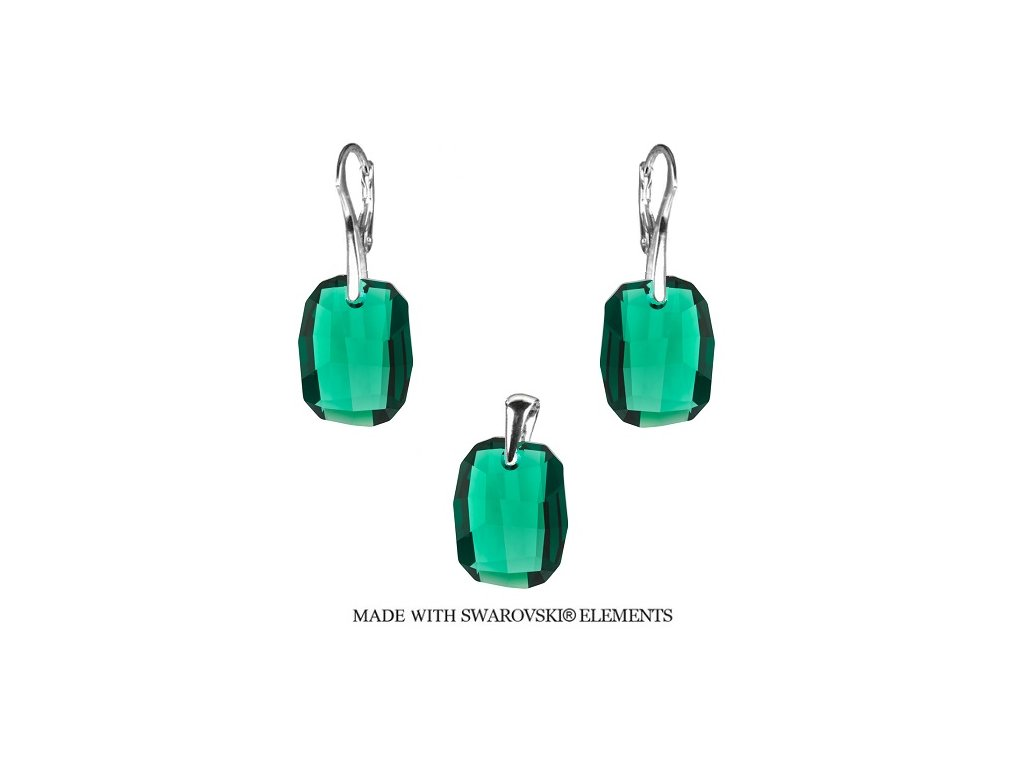 Set s kryštálmi Swarovski® Graphic Emerald 19 mm