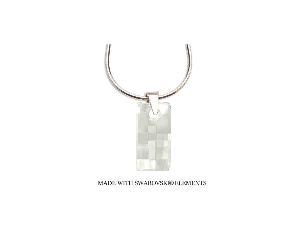 Náhrdelník Swarovski Elements obdĺžnik URBAN Crystal 20 mm