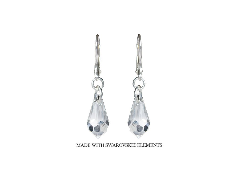 Náušnice Teardrop s kryštálmi Swarovski® Crystal