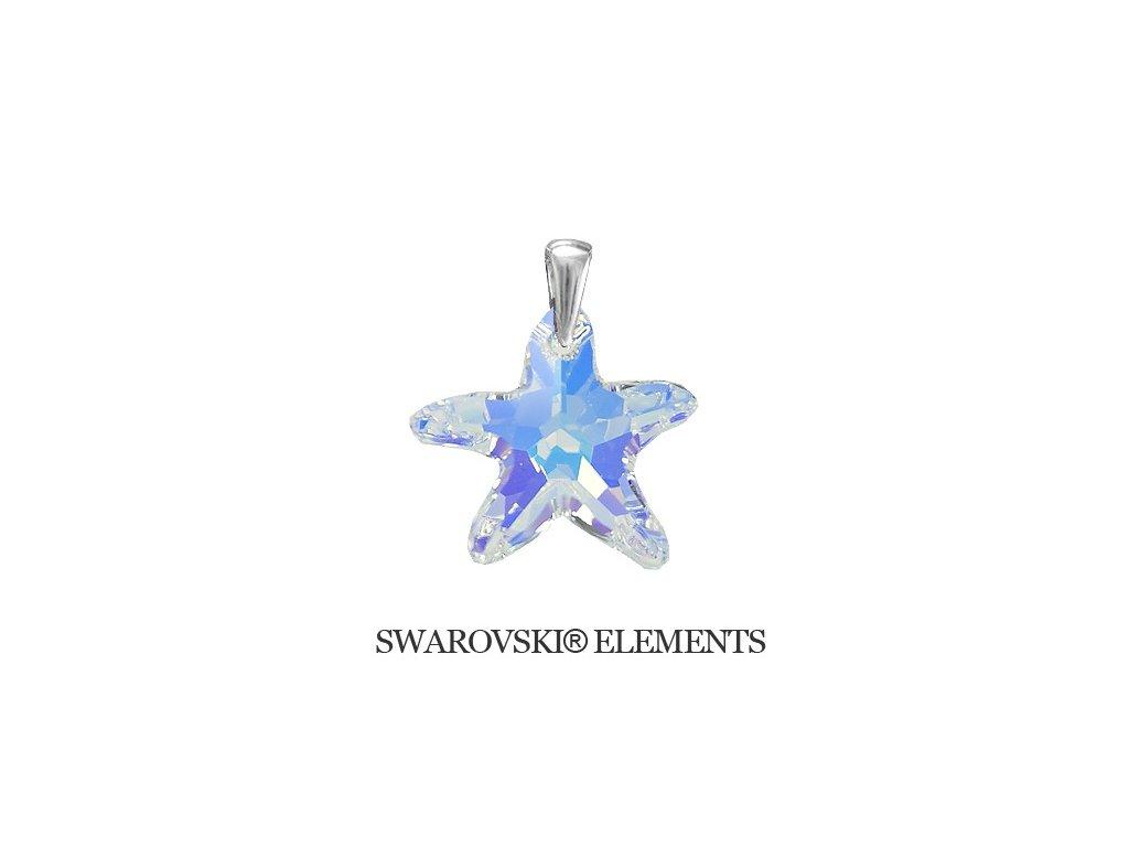 Prívesok morská hviezda Swarovski® Crystals AB 28 mm