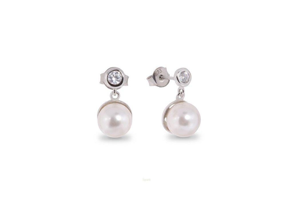 Perlové náušnice Pearls Rich White