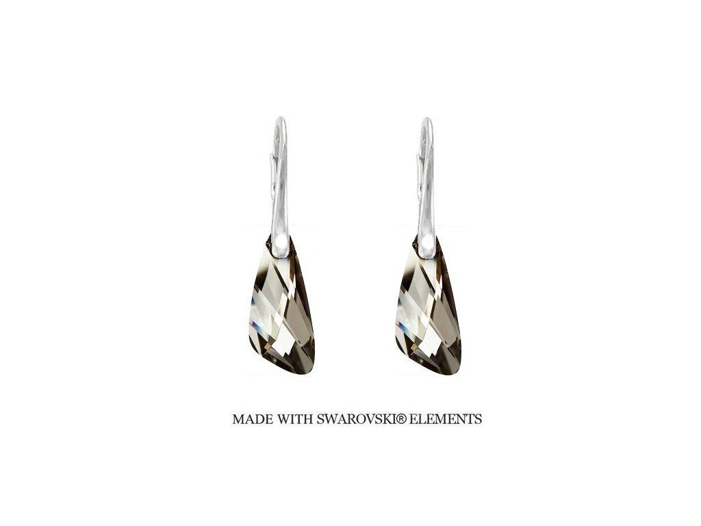 Náušnice Naneth s kryštálmi Swarovski®Crystals Wing Silver Night
