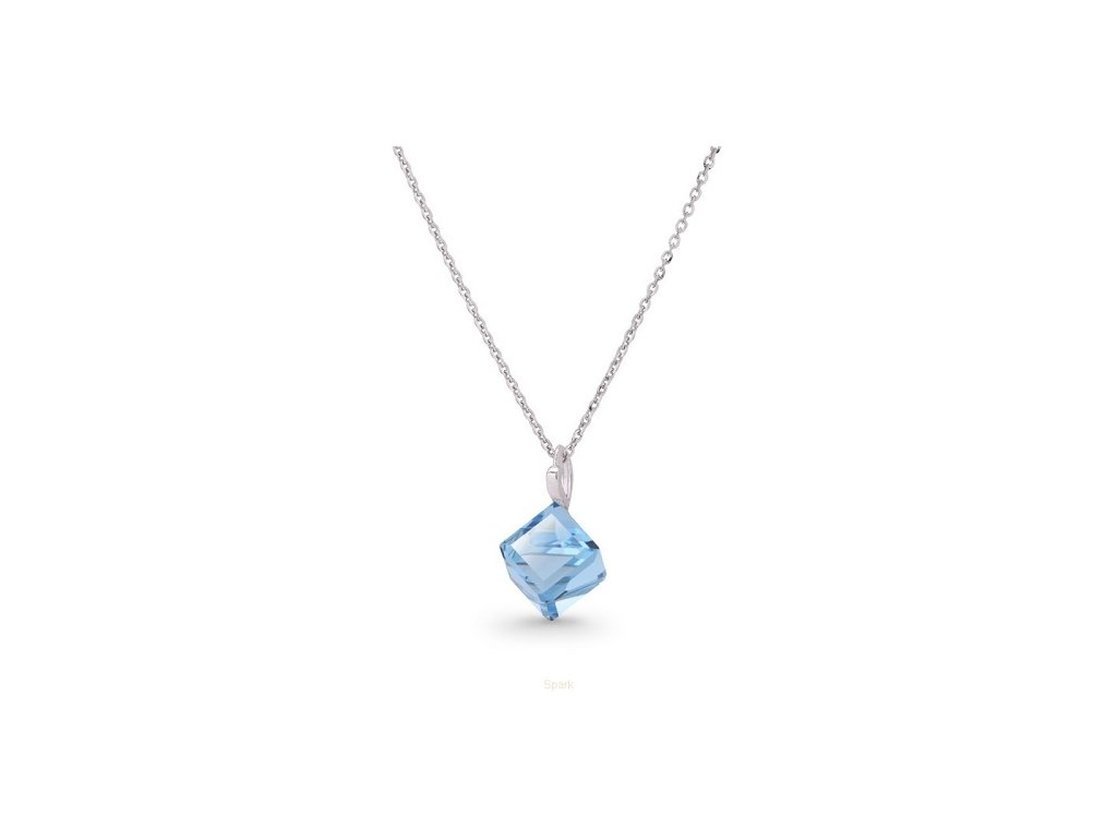 strieborny-sarovski-nahrdelnik-s-modrou-kockou-aquamarine