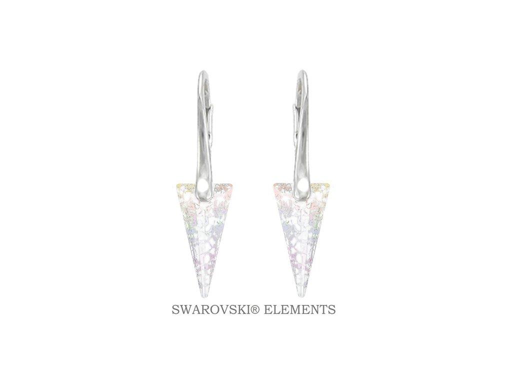 Náušnice s kryštálmi SPIKE Swarovski® White Patina 18 mm