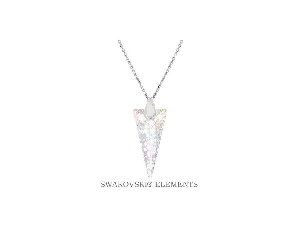 Náhrdelník s kryštálom SPIKE Swarovski® White Patina 18 mm