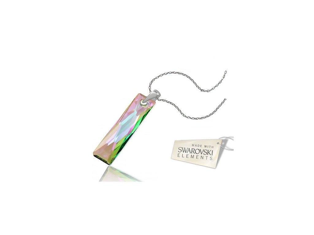 Náhrdelník Naneth s kryštálom Swarovski® Baguette Paradise Shine 38 mm