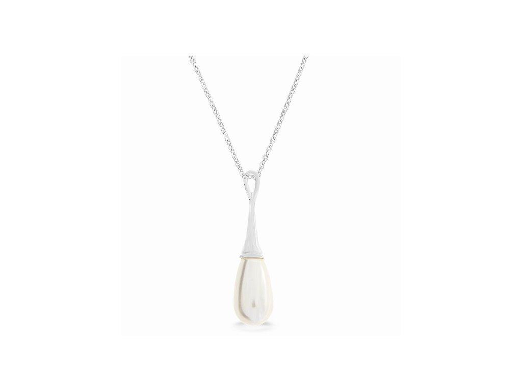 Náhrdelník s perlou Swarovski Elements Pearl Drop