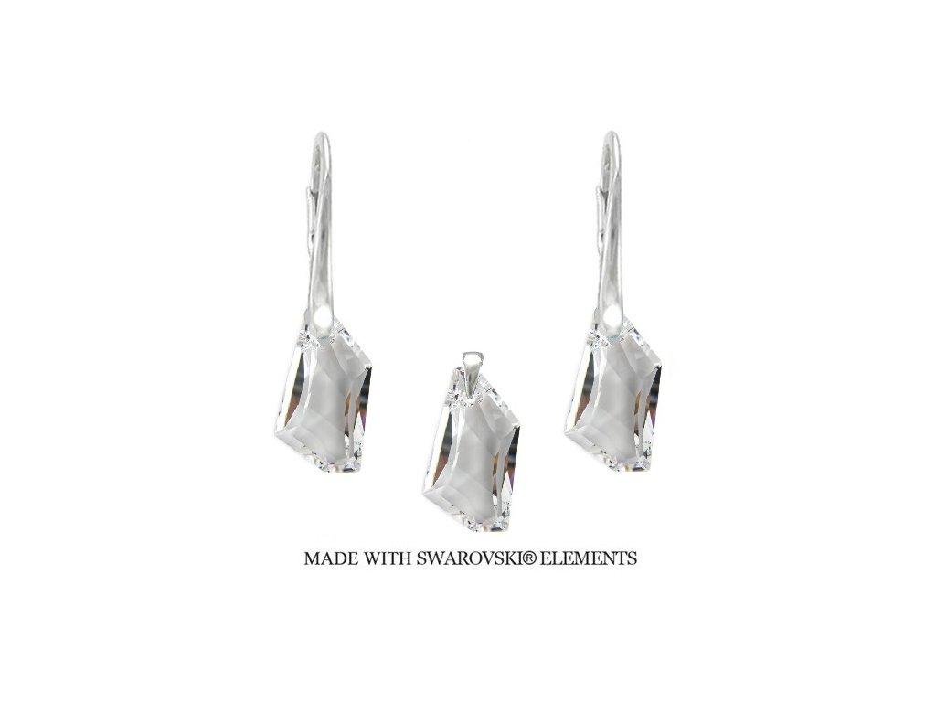 Strieborný set DE-ART s kryštálmi Swarovski® Crystal