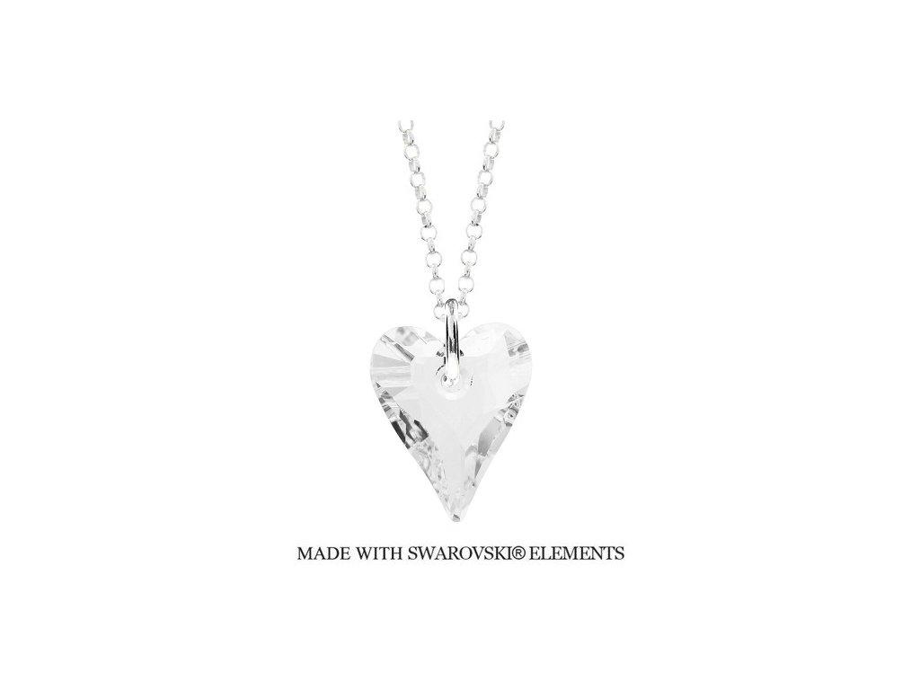 Náhrdelník divoké srdce Swarovski Elements Crystal 17 mm
